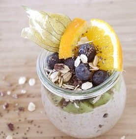 Oats in a Jar with Berries