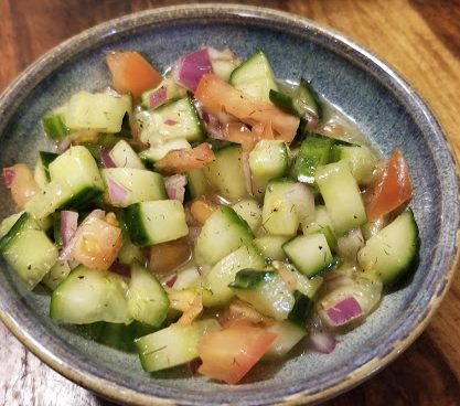 English Cucumber Salad